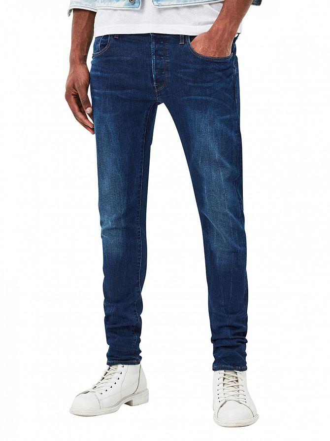G-Star Dark Aged 3301 Deconstructed Slim Jeans