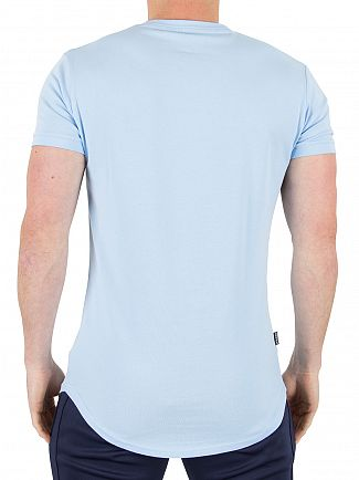 Gym King Blue Bell Longline Logo T-Shirt