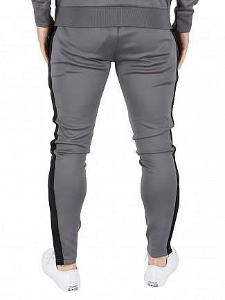 Gym King Steel/Black Poly Tech Logo Track Joggers