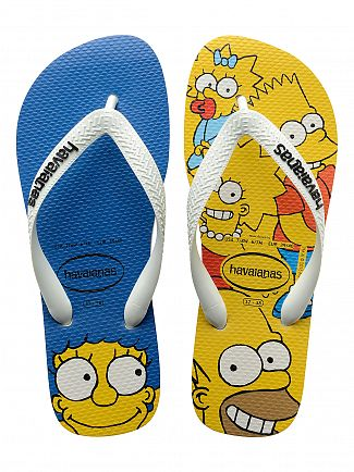 Havaianas White Simpsons Family Flip Flops