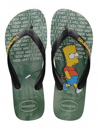 Havaianas Ice Grey Simpsons Finish What I Start Flip Flops