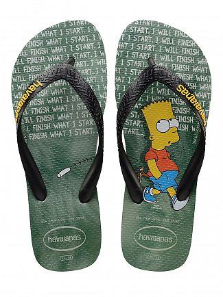 Havaianas Ice Grey Simpsons Finish What I Start Flip Flops