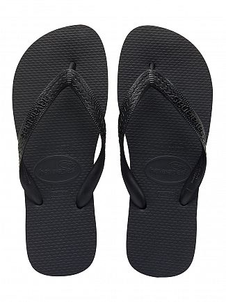 Havaianas Black Top Flip Flops