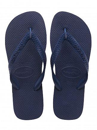 Havaianas Navy Blue Top Flip Flops