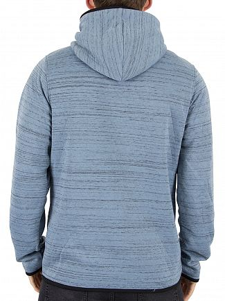 Jack & Jones Faded Denim Carbon Marled Logo Hoodie
