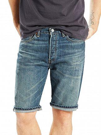 Levi's Dark Wash 501 Destiny Street Hemmed Denim Shorts