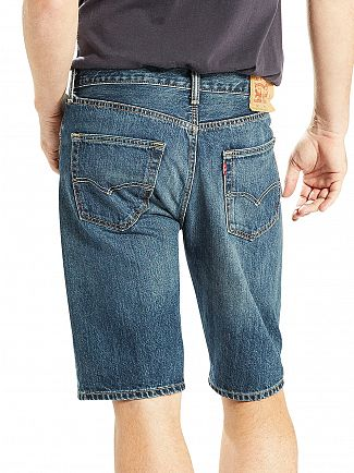 Levi's Dark Wash 501 Destiny Street Hemmed Denim Shorts
