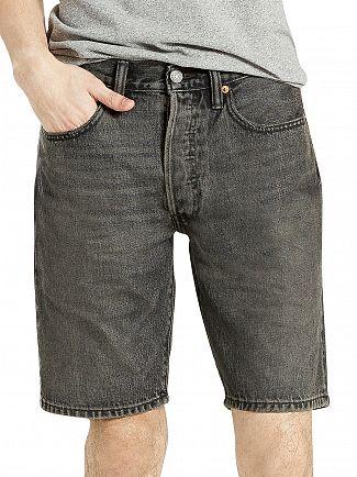 Levi's Charcoal 501 Heck Hemmed Denim Shorts