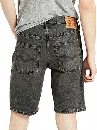 Levi's Charcoal 501 Heck Hemmed Denim Shorts