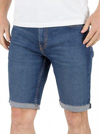 Levi's Mid Wash 511 Slim Fit Villle Cut Off Denim Shorts