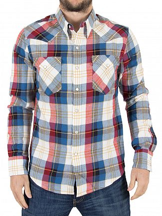 Levi's Red Barstow Western Hemp Cherry Bomb Shirt