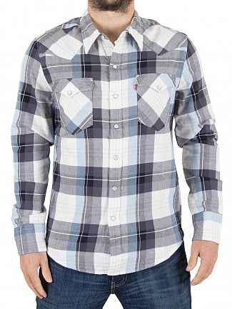 Levi's Blue Check Barstow Western Hemp Nightwatch Shirt