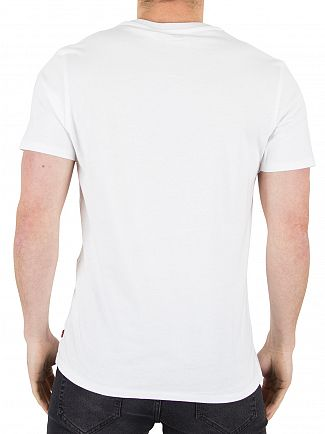 Levi's White Housemark Checked Graphic T-Shirt