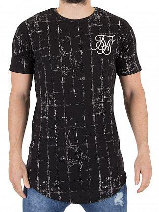 Sik Silk Black/White Grid Logo T-Shirt