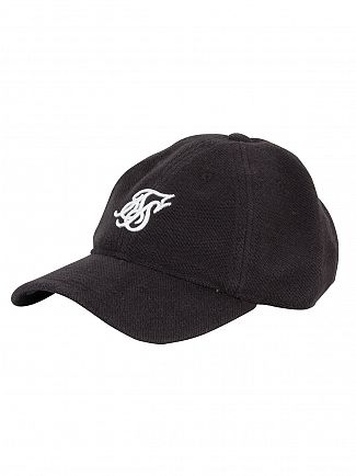 Sik Silk Black Terry Embroidery Logo Cap