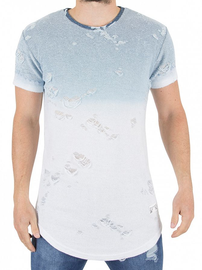 Sik silk navy white tord terry t shirt stand out for Silk white t shirt