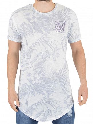 Sik Silk Blue/White Vintage Jungle Logo T-Shirt
