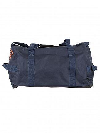 Superdry Navy/White Lineman Barrel Bag