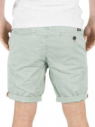Superdry Sea Wash Green Sunscorched Chino Shorts
