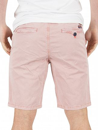 Superdry Flamingo Pink Sunscorched Chino Shorts