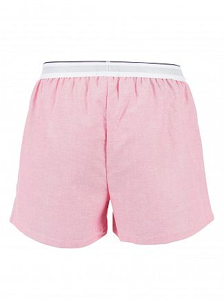 Tommy Hilfiger Raspberry Heritage Oxford Logo Woven Trunks