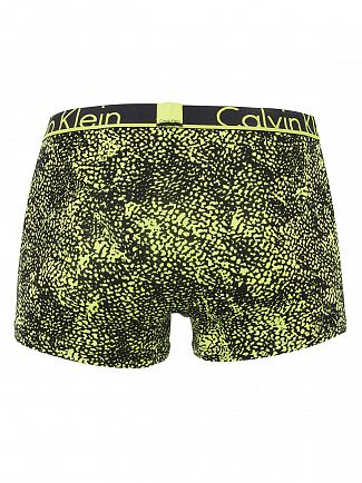 Calvin Klein Black/Lime ID 2-Pack Logo Waistband Trunks