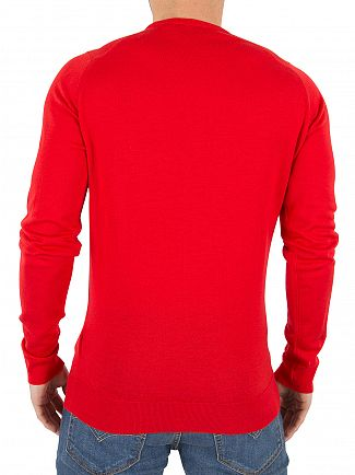 John Smedley Bevin Red Lundy Longsleeved Knit