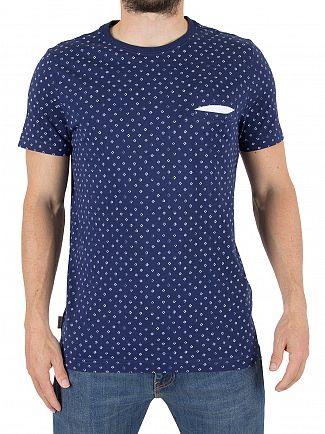 Tommy Hilfiger Medieval Blue Kyle Print Pocket T-shirt