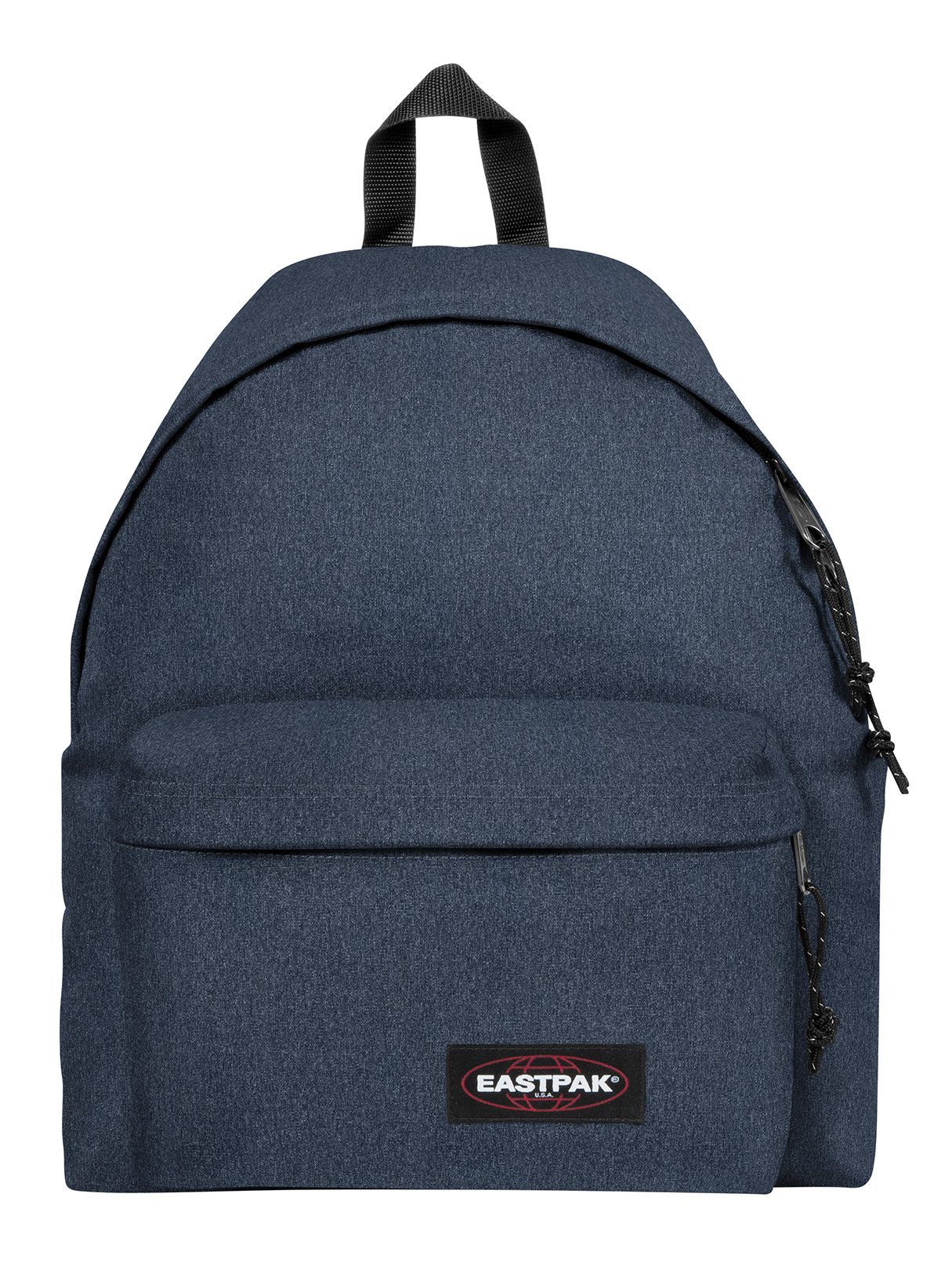 Eastpak Padded Pak R Leather Backpack In Black For Men: Eastpak Double Denim Padded Pak R Logo Backpack