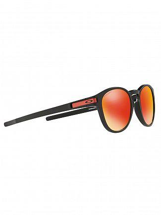 Oakley Matte Black/Prizm Ruby Latch Sunglasses