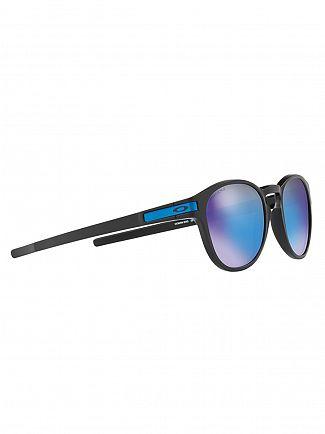 Oakley Matte Black/Prizm Sapphire Iridium Latch Sunglasses