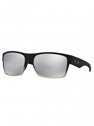 Oakley Machinist Matte Black/ Chrome Iridium Two Face Sunglasses