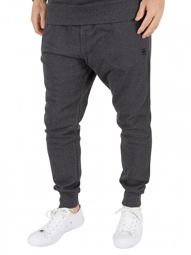 G-Star Black Heather Core 3D Tapered Fit Logo Joggers