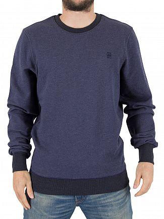G-Star Sartho Blue Core Logo Sweatshirt