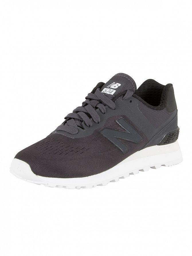 New Balance Black/White 574 Trainers