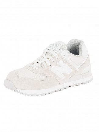 New Balance Beige/White 574 Trainers