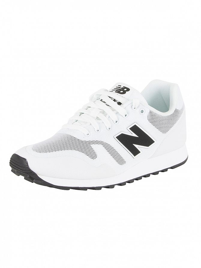New Balance White/Cream/Black 373 Trainers