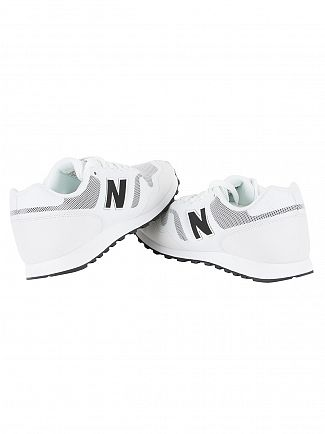 New Balance White/Cream/Black 373 Trainers