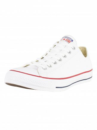 CONVERSE WHITE CT ALL STAR OX LEATHER TRAINERS
