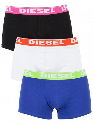 Diesel Purple/White/Black 3 Pack Fresh & Bright Shawn Trunks