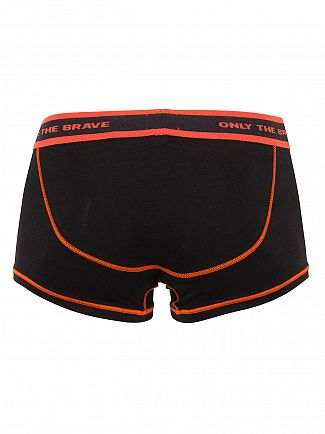 Diesel Black/Red Fresh & Bright Hero Boxer Trunks