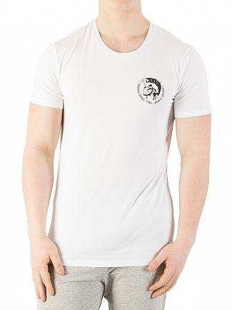 Diesel White Randal Logo Crew Neck T-Shirt