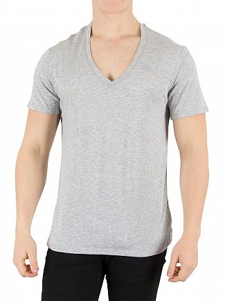 G-Star Grey Heather 2 Pack V-Neck Logo T-Shirts