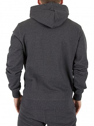 G-Star Black Heather Core Logo Zip Hoodie