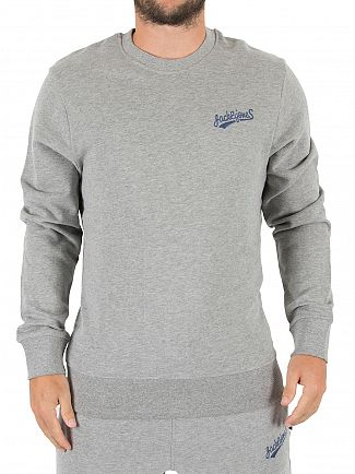 Jack & Jones Light Grey Melange Original Mills Logo Sweatshirt