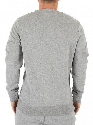 Jack & Jones Light Grey Melange Original Mills Logo Sweatshirt