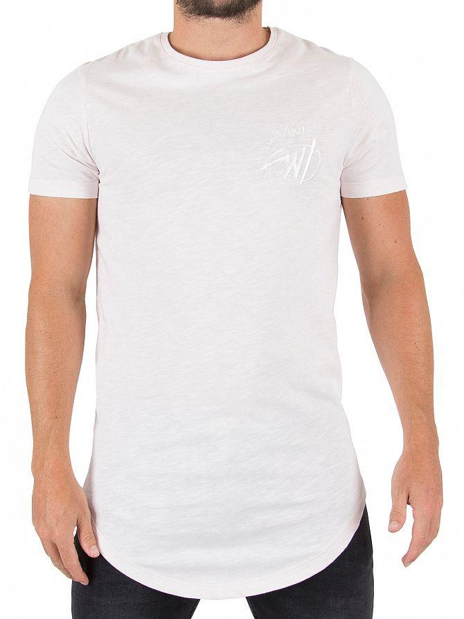 Kings Will Dream Baby Pink Cada Slub Logo T-Shirt