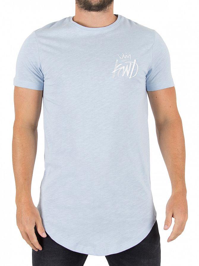 Kings Will Dream Sky Blue Cada Slub Logo T-Shirt