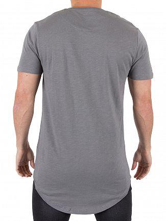 Kings Will Dream Steel Grey Cada Slub Logo T-Shirt
