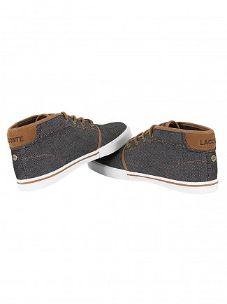 Lacoste Black/Brown Ampthill 317 1 CAM Trainers